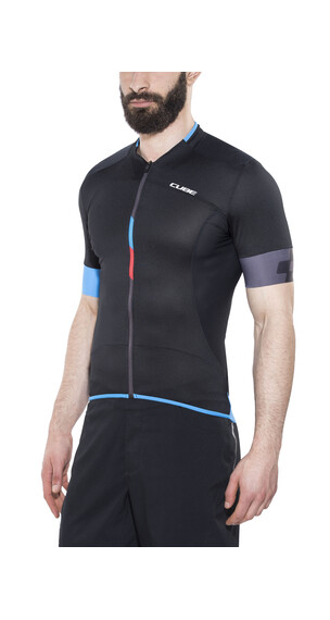 Cube Black Zero Trikot kurzarm Herren black'n'flashred'n'blue